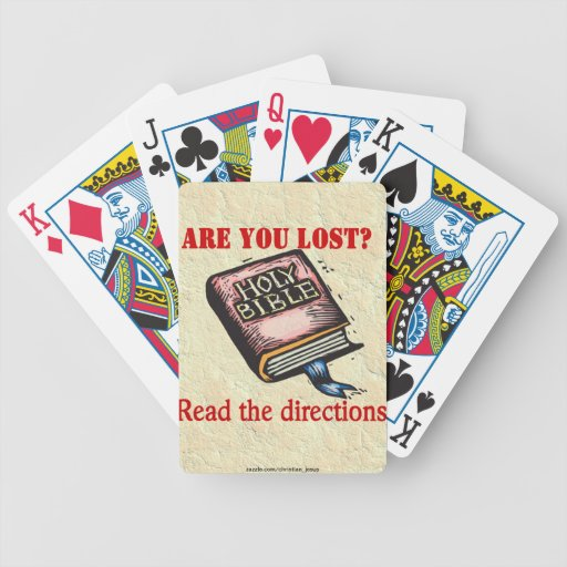 BIBLE GIVES ME DIRECTION BICYCLE PLAYING CARDS