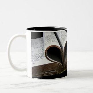 Bible Heart Two-Tone Coffee Mug
