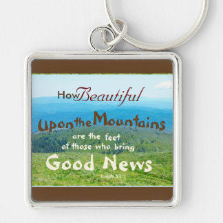 Bible, How beautiful those who bring Good News, Keychain