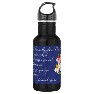 Bible Inspirational Verse  Jeremiah 29:11 18oz Water Bottle