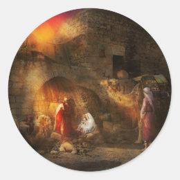 Bible - Jesus - Seeking the Christ child 1920 Classic Round Sticker