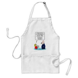 bible kid priest romantic comedy battles boy girl adult apron
