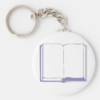 Bible lila fond blanc keychain