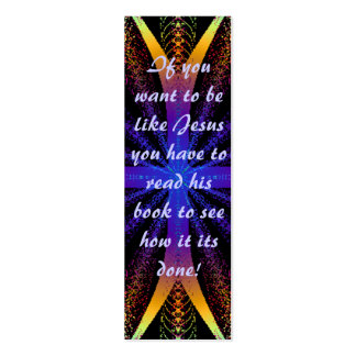 Bible Mark or Bookmark Double-Sided Mini Business Cards (Pack Of 20)