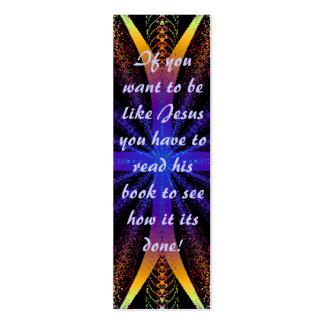 Bible Mark or Bookmark Mini Business Card