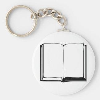 Bible noire fond blanc keychain