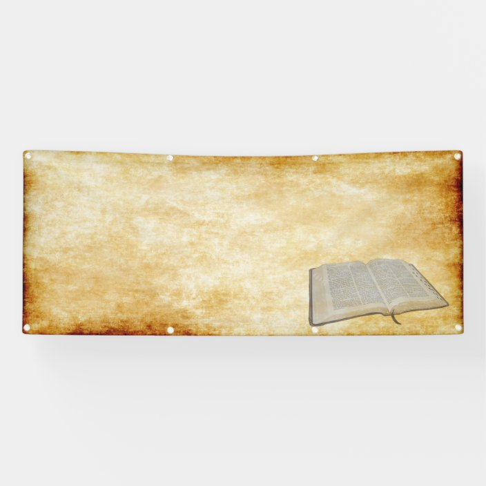 Bible Parchment Blank Church Banner Zazzle Com