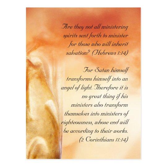 Bible passage, angels postcard