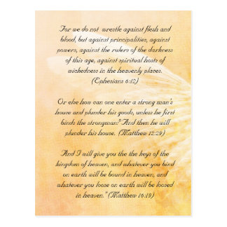 Bible passage, grunge wings postcard