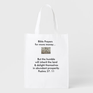 Bible passages for Prosperity tote bags Reusable Grocery Bag