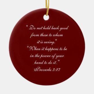Bible Principles,  Quotes Double-Sided Ceramic Round Christmas Ornament