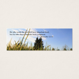 Bible proverbs about lazy and diligent mini business card