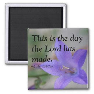 Bible Psalm Flower Magnet