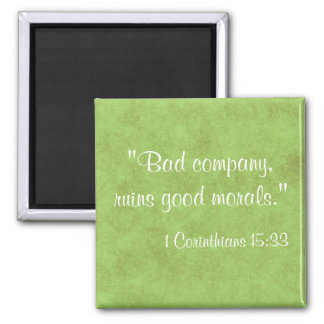 Bible Quote 2 Inch Square Magnet