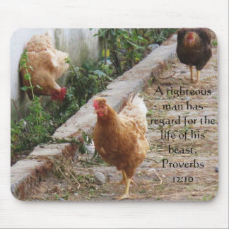 Bible quote  about Animal Cruelty Proverbs 12:10 Mouse Pad