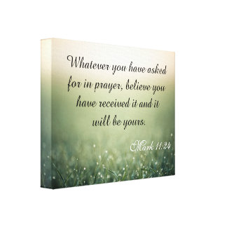 Bible Quote Canvas