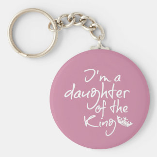 Bible Quote: Daughter of the King Keychain