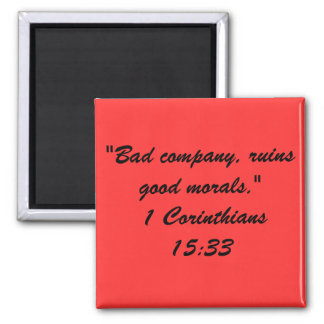 Bible Quote Mag 2 Inch Square Magnet