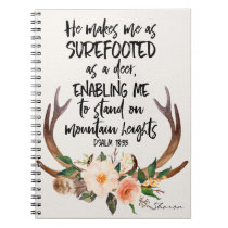 Bible Quote Personalized Notebook