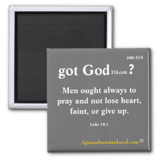 Bible Quotes 2 Inch Square Magnet
