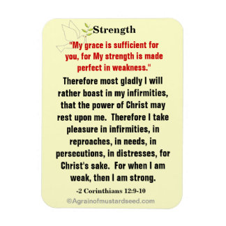 Bible Quotes Agrainofmustardseed.com Magnet