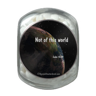Bible Quotes Glass Jar