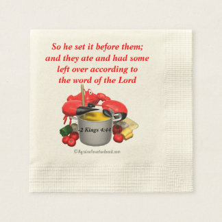 Bible Quotes Christian Coined Cocktail Napkin