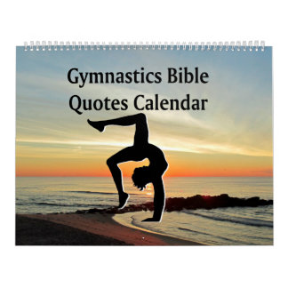 BIBLE QUOTES GYMNASTICS CALENDAR