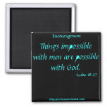 Bible Quotes Refrigerator Magnet
