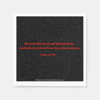 Bible Quotes Standard Cocktail Napkin