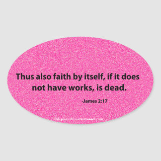 Bible Quotes Oval Stickers