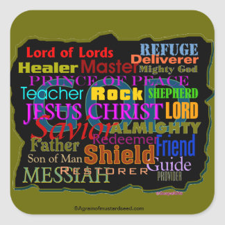 Bible Quotes Square Stickers