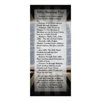 Bible Reading Plan Bookmark Custom Rack Cards