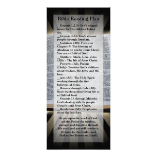 Bible Reading Plan Bookmark Rack Card