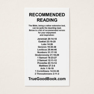 Bible Recommended Reading Card
