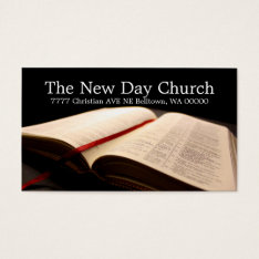 Bible Religion Christian Pastor Christianity Business Card at Zazzle