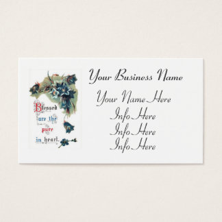 Bible Saying With Flowers Business Card
