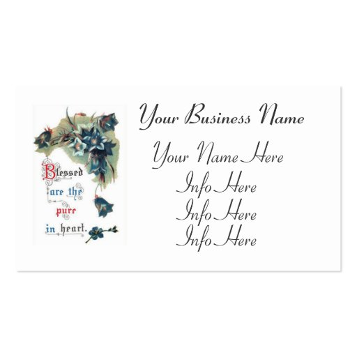 Bible Saying With Flowers Business Card Template