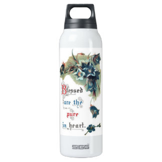 Bible Saying With Flowers 16 Oz Insulated SIGG Thermos Water Bottle
