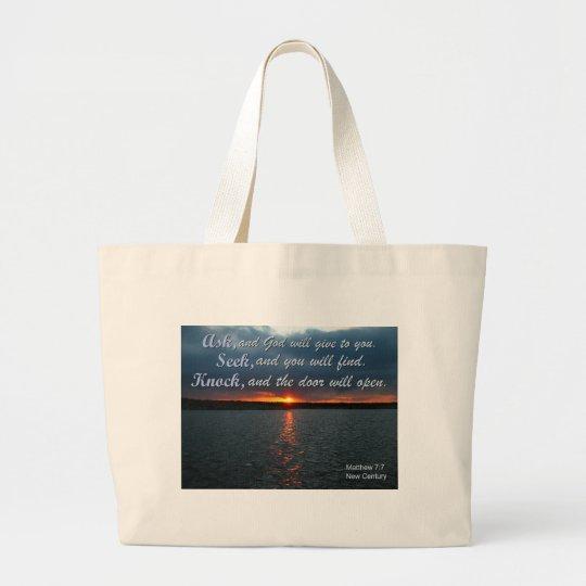 bible sayings large tote bag