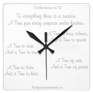 Bible Scripture Agrainofmustardseed.com Clocks