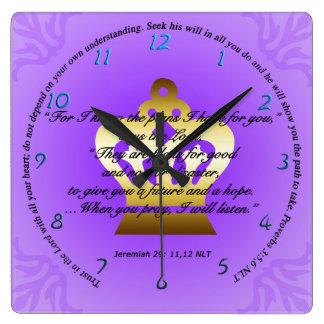 Bible Scripture Round Clock