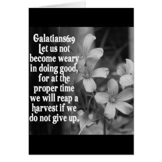 BIBLE SCRIPTURE GALATIANS 6:9 CARD
