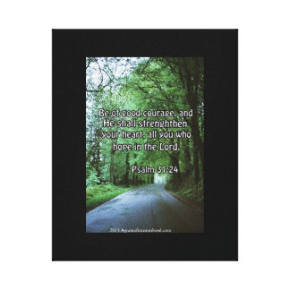 Bible Scripture Inspirational Stretched Canvas Print