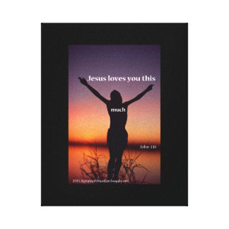Bible Scripture Inspirational Gallery Wrapped Canvas