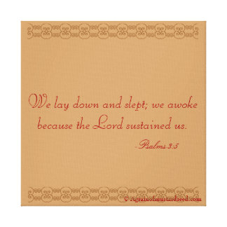 Bible Scripture Inspirational Canvas Print
