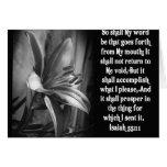 BIBLE SCRIPTURE ISAIAH 55:11 GREETING CARD