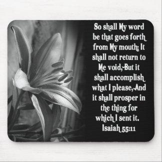 BIBLE SCRIPTURE ISAIAH 55:11 MOUSE MATS