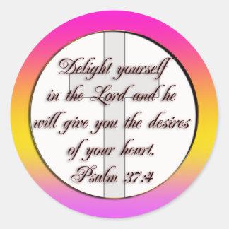 BIBLE SCRIPTURE PSALM 37 4 STICKER