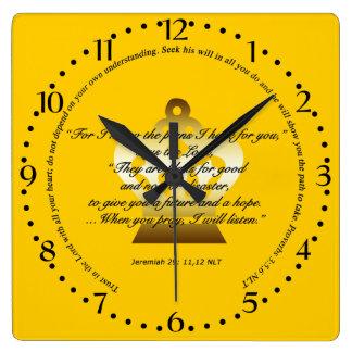 Bible Scripture Wall Clock